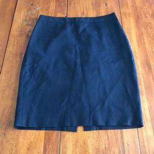 J crew navy blue pencil skirt